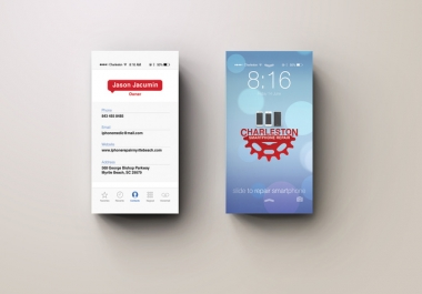 design iPhone ios7 style business card