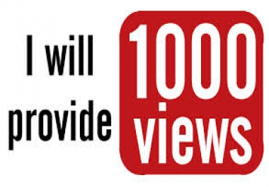 give you 1,000 youtube views to your youtube video,started within 2-4 hours