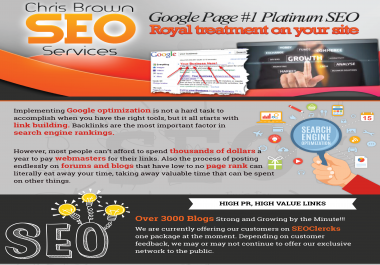 35 Keywords Guarantee - I will Skyrocket your Website to Google Page ONE, Monthly Plan