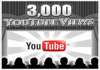 I will give 5000+++ Youtube Views
