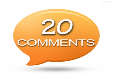 5 Blog or Website comments upto 20 from Extras