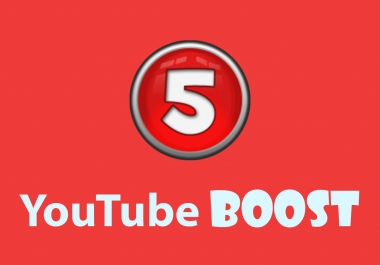YouTube Boost - 20,000 views, 500 likes, 200 subscribers, 100 favorites & 20 comments
