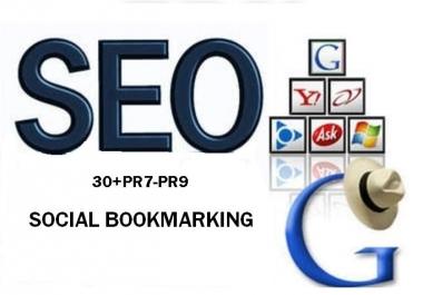 I will Supply 30 PR7 to PR8 Social Bookmarking