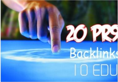build 10 Edu.Gov And 20 PR9 Us based High Pr Backlinks