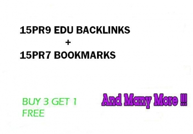 Hummingbird safe 15 PR9 Edu Gov backlinks and 15 PR8 Social Bookmarks