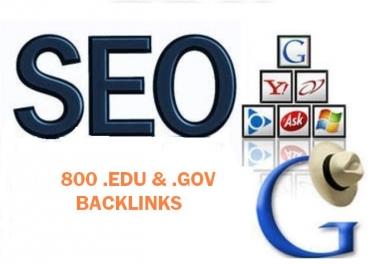 800 Edu and Gov blog backlinks by using Blog comments