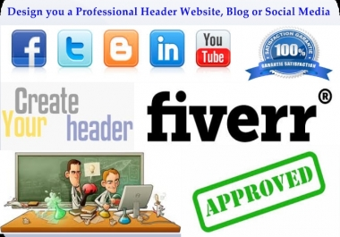 Design you a professional Header website, blog or social media