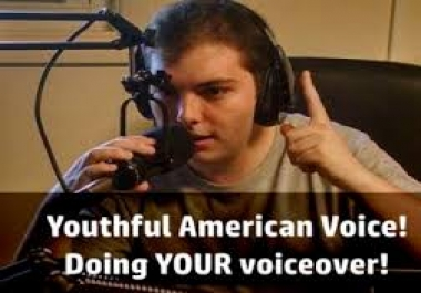 ##@@@ I will record a Voice Over Young American @@@###