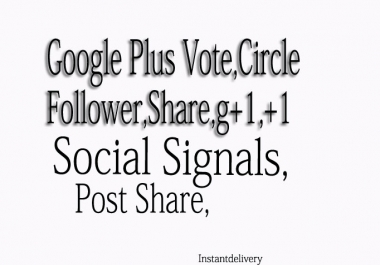 Add 150 GOOGLE share or Circles or folow for your site or profile