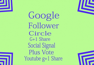 I will send You 100 Real Google plus Circles Valid for $1