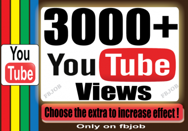 Fast 3000+ Views for Your YouTube Video To Improve So... for $1