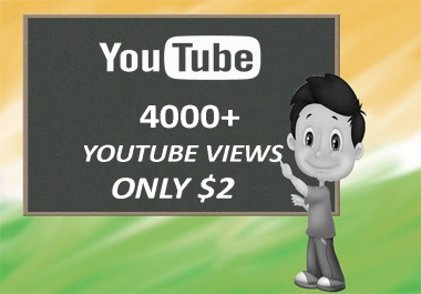 Get 4000+ Instant Start Youtube VIews for your video