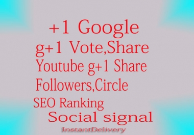 get you 110 google +1 PLS one vote to your website for $1