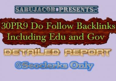 30PR9 and PR10 do follow backlinks for Your Seo