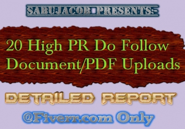 20 Document or Pdf submissions only in High PR sites