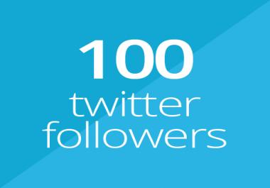 100 Twitter followers