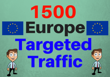 1500 Europe TARGETED Human traffic to your web or blo... for $1