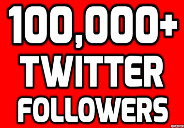 Provide Instantly 100,000+ Permanent Twitter Followers
