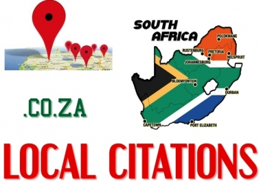 I will create10 High PR Local Citation for south Africa, Approved