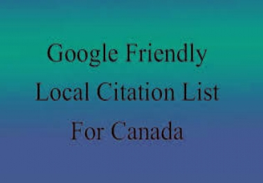 provide you with a highly relevant, local business friendly, Google rank boosting list of citation s