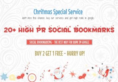 20+ High PR Social Bookmarks For Your Website