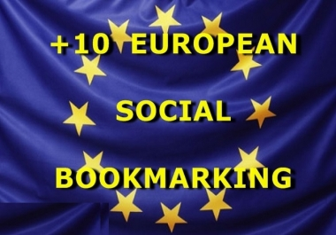 submit URL to 10 European Social Bookmarking Sites with Bonus