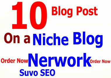 I will create 5 blog posts on a niche blog network