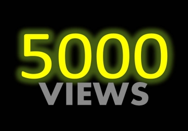 Give You 5000+ Youtube views With refill guarantee