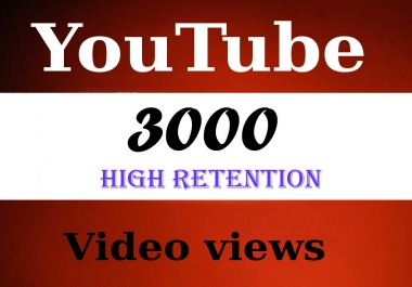 Give You 3099+ HR NON Drop + Splitable Youtube Views