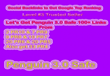 Get Penguin Safe Manual 100 Social Profile Backlinks(DA70 - DA100) for Website & Video