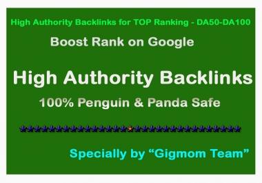 Create Manually 200 High Authority Backlinks for TOP Ranking - DA50-DA100