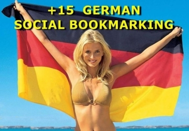 submit URL to 15 German Social Bookmarking Sites with top Bonus