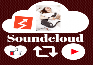 Get USA 1000 high retention Soundcloud Play,10 Likes and 10 Comments within 24 Hours