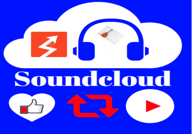 Get 50,000 Non-Drop Soundcloud Plays,400 Likes,100 Repost and 5 Comments
