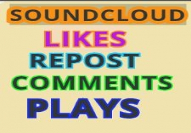 Soundcloud 600 Likes 400 Repost USA 1000 Plays Some Comments within 24 hours
