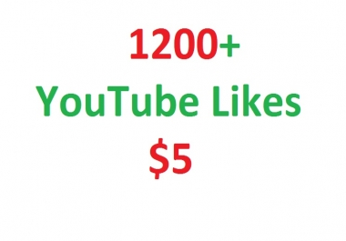 1200+ youtube video likes in your video
