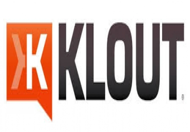 send you an influence stroke up to 10 topics from my 70 Klout account..