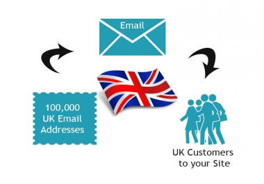 give you Email database of 100k UK Email Addresses