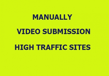 Manually upload your video to top 60 video sharing sites for