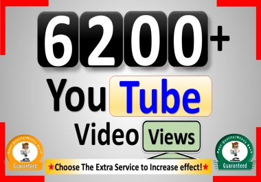 Get 6200+ YouTube-Video Views, Real Active, Permanent & Good Retention