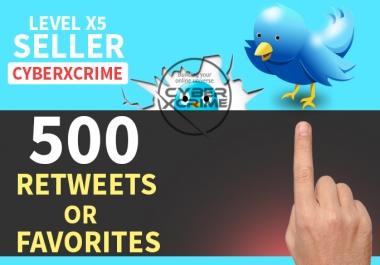 Add 500 Retweets Or 500 Favorites in your tweets