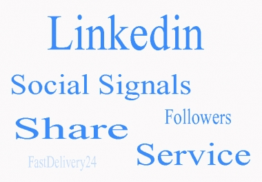 Give you 450 Linkedin Share For Your Website