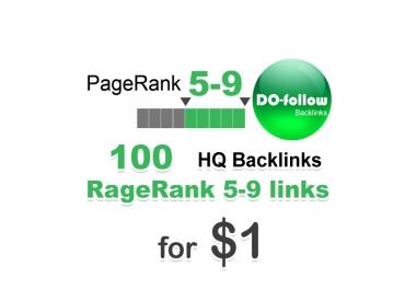 100 do-follow PR 5-9 backlinks for $1