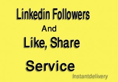 I give you 150 Linkedin Share or Followers