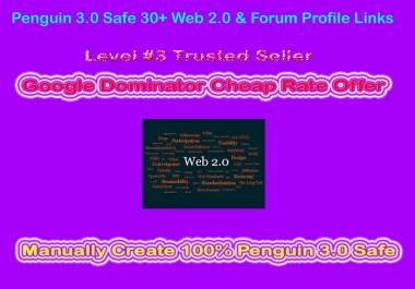 PBN - Manually 20 Web 2.0 Blog Creation From Moz DA50 - DA100