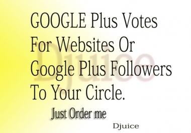 Get 500+ USA VERIFIED Google PLUS One G+1 Vote Likes