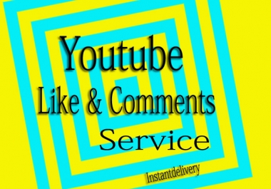 YouTube Custom 10 Comments+Likes in your yt video for $1