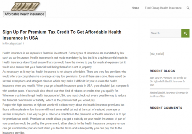 Post on Health Insurance Blog