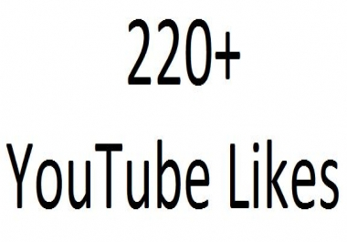 220+ YouTube likes in your YouTube video