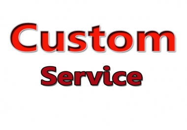 Provide You any Custom Service
